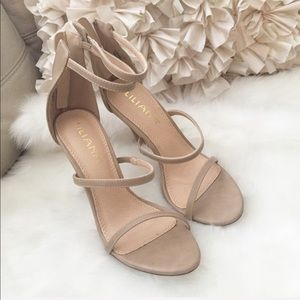 Sexy Triple Strap Heeled Sandals